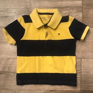 Tommy Hilfiger Navy & Yellow Polo Shirt